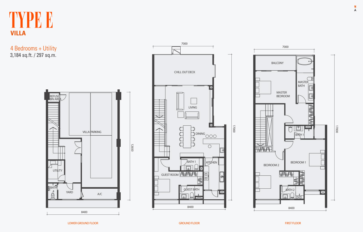Floor Plan of Type D Condo gen KL