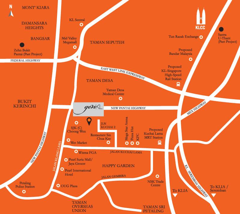 Location Map of gen KL