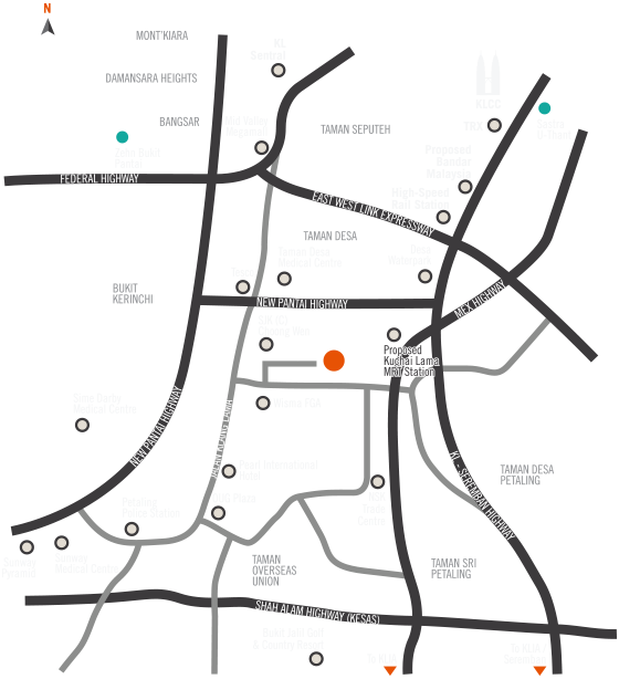 Location Map of gen KL